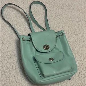 Coach tiffany blue colored backpack